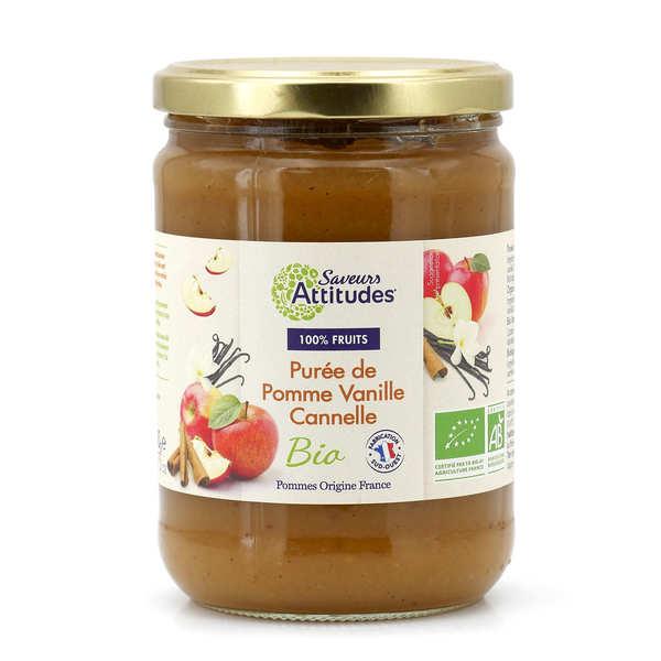 Purée de pomme, vanille et cannelle bio