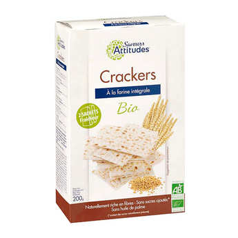 Saveurs Attitudes - Crackers façon pain azyme bio