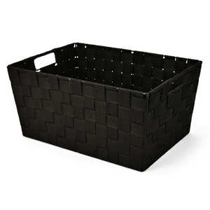 - Large Black Nylon Basket With Handles