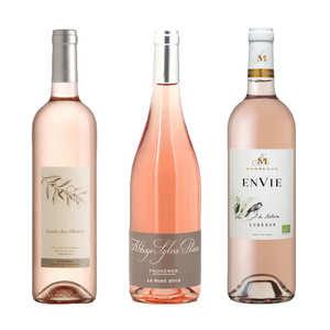 BienManger paniers garnis - 3 Organic Rosé Wines from France