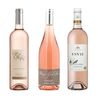 - 3 vins rosés plaisir bio