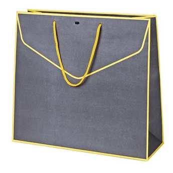 - Le sac papier gris et jaune