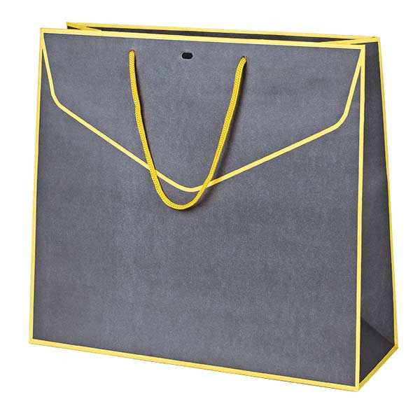Yellow and Grey Paper Bag