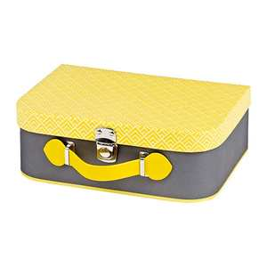- Grey and Yellow Little Suitcase