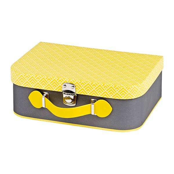 Grey and Yellow Little Suitcase