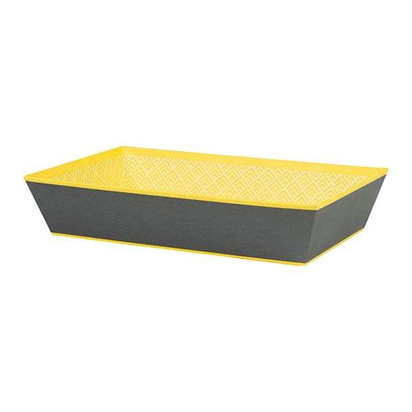 Rectangle Basket - Grey and Yellow