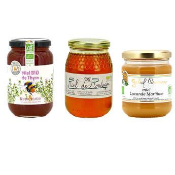- Assortiment de miels bio