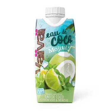 Mojito Way Vaïvaï 100% Natural Coconut Water With Limon And Mint