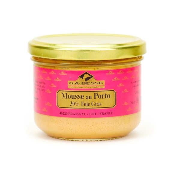 Mousse de canard au porto avec 30% de bloc de foie gras