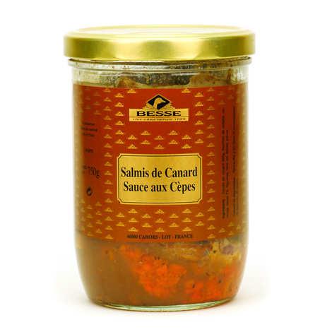 Foie gras GA BESSE - Salmis de canard sauce aux cèpes