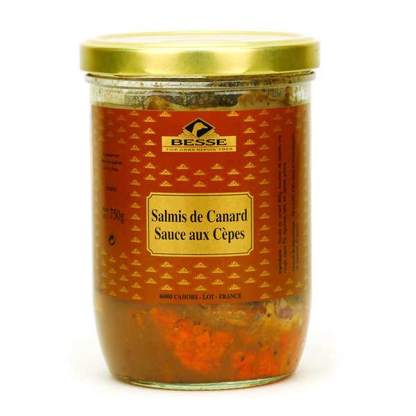 Salmis de canard sauce aux cèpes