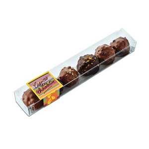 Les Caprices du Chocolatier - Réglette de rochers assortis noirs et lait
