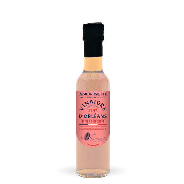 Vinaigre d'Orléans de vin blanc aux coquelicots sauvages - M. Pouret