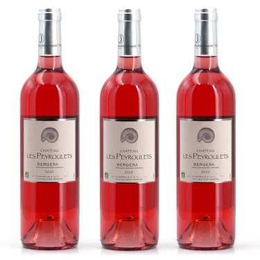3 vins rosés plaisir bio Château Les Peyroulets
