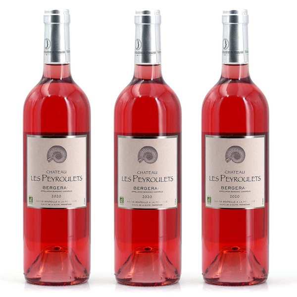3 rosés plaisir bio Château Les Peyroulets