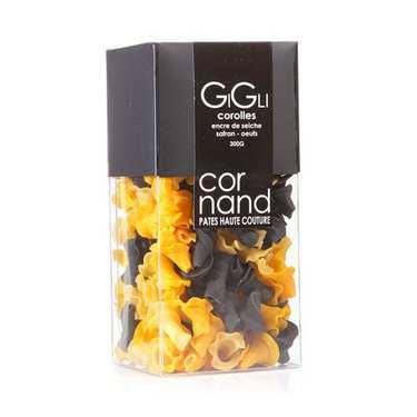 Cornand Pasta - Corolla Cuttlefish Ink, Saffron, Eggs