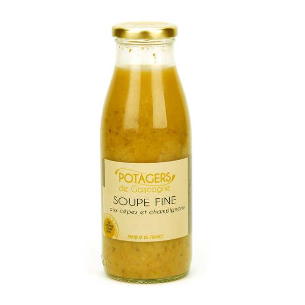 Soupe fine aux cèpes et champignons