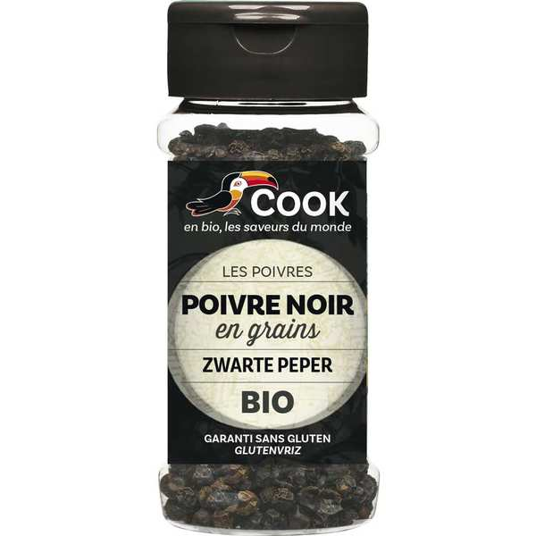 Organic grain of black pepper