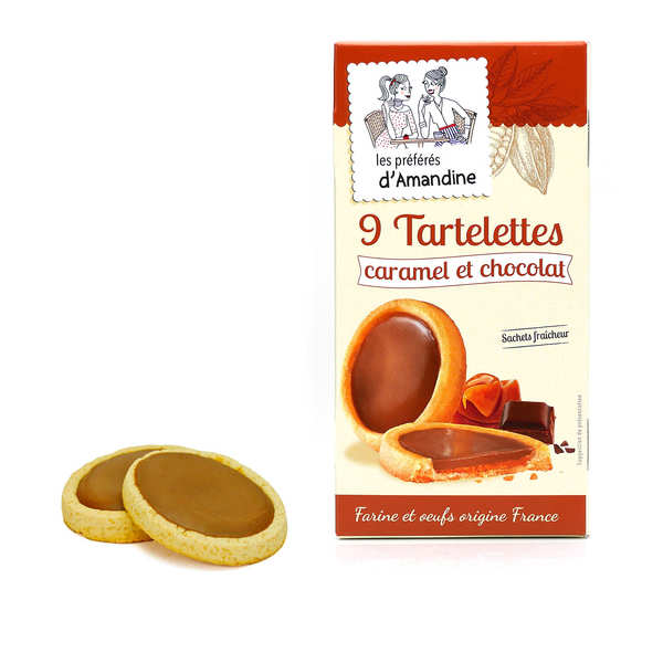 Salted Butter Caramel and Milk Chocolate Tartlets