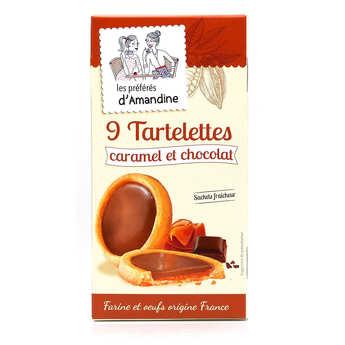 Les préférés d'Amandine - Tartelettes au chocolat au lait et caramel beurre salé