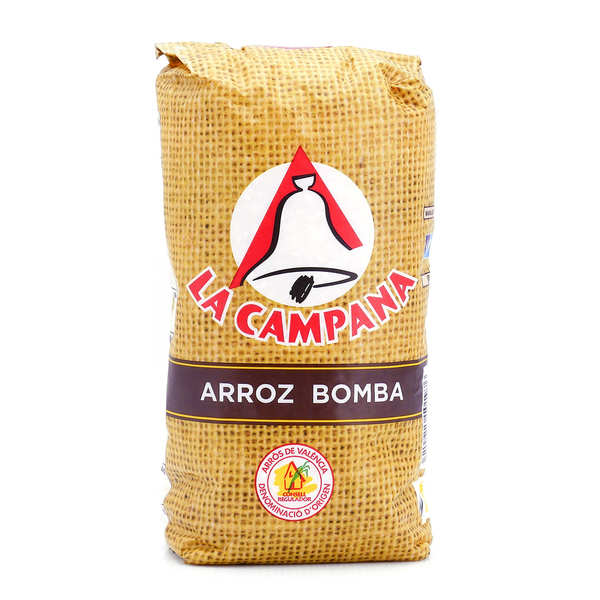 Riz extra Bomba AOP Valencia spécial paëlla - La Campana