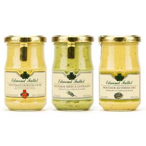 Fallot - Lot de 3 moutardes Fallot