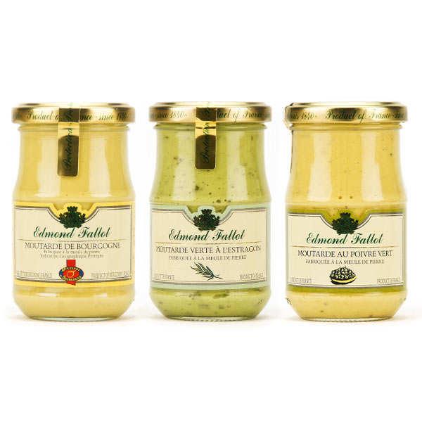 Assortment of 3 Mustards Fallot