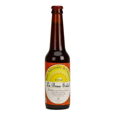 Bière rousse bio de l'Aveyron de la Brasserie Beau Soleil 5%