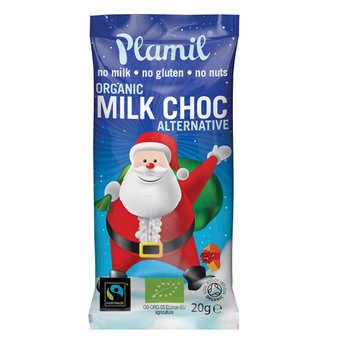 Plamil - Petit père Noël en chocolat bio sans lactose et sans gluten