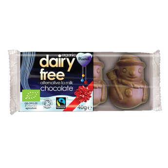Plamil - Organic Little Milk Chocolate Snowmen - Lactose Free