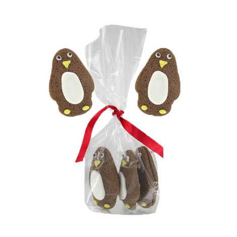 Image on food - Petits biscuit pingouins au chocolat
