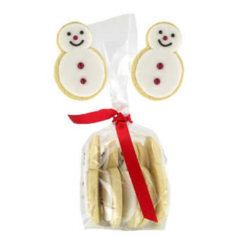 Image on food - Little Snowman Biscuit with Vanilla
