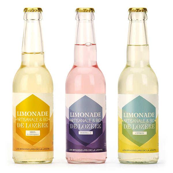 Assortment of lemonades les brasseurs de la Jonte