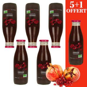Jus Bio & Cie - Pur jus de grenade d'Iran bio - 5 + 1 offert
