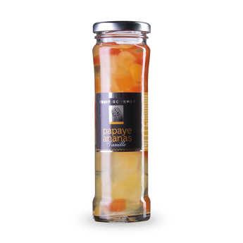 Fruit Gourmet - Duo ananas papaye au sirop vanille