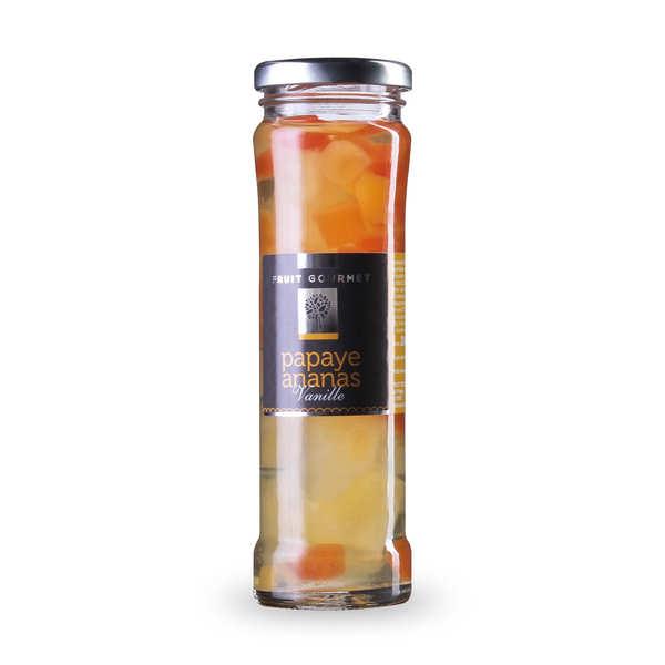 Duo ananas papaye au sirop vanille