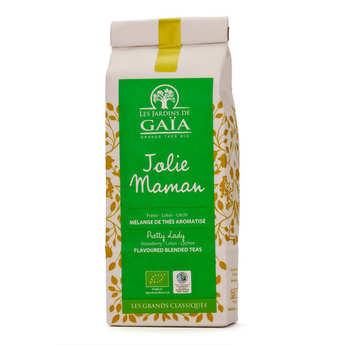 Les Jardins de Gaïa - Thé vert et noir jolie maman bio - fraise, lotus, litchi