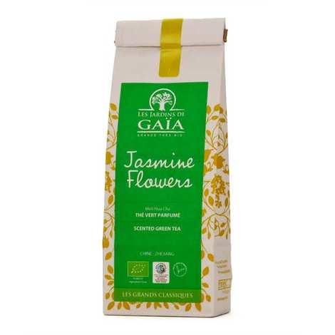 Les Jardins de Gaïa - Thé vert jasmine flowers bio - Moli hua cha
