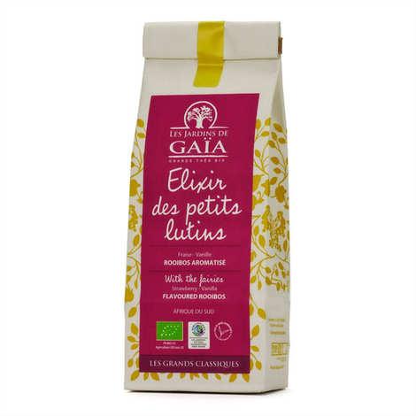 Les Jardins de Gaïa - Rooibos fraise, vanille bio - Elixir des petits lutins