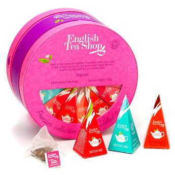 English Tea Shop - Coffret premium de 24 thés et infusions bio (8 variétés)