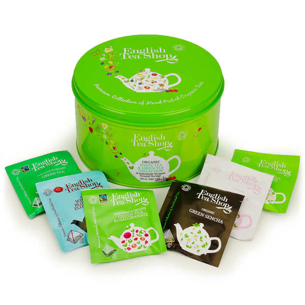 Coffret collection de thés verts et blancs bio (30 sachets)