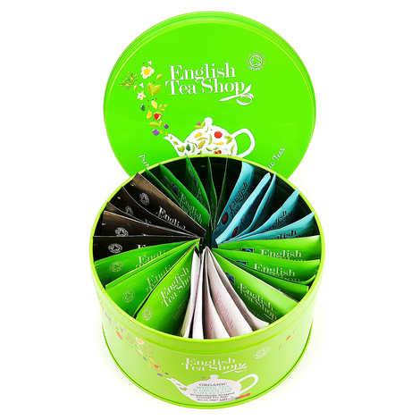 English Tea Shop - Coffret collection de thés verts et blancs bio (30 sachets)