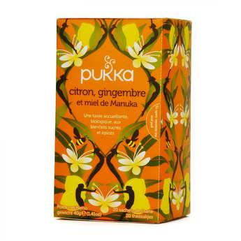 Pukka herbs - Organic Ayurvedic Herbal Tea with lemon, Ginger and Manuka Honey