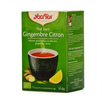 Yogi Tea - Organic Green Tea with Ginger and Lemon - Yogi Tea
