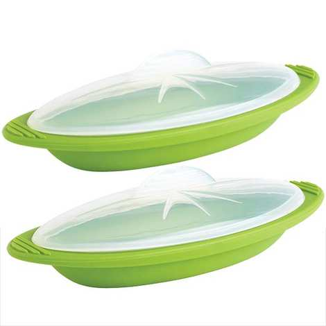 "Mastrad - Set of 2 ""papillote"" steaming cookers 12oz with rigid handles"