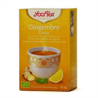 Infusion gingembre citron bio - Yogi Tea