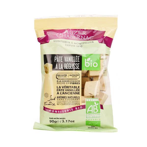 Bonbon de pâte vanillée à la réglisse bio