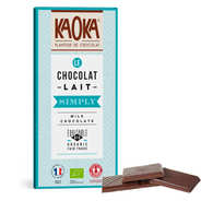 Kaoka - Tablette de chocolat au lait 32% bio - Simply milk
