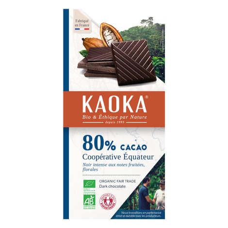 Kaoka - Tablette de chocolat noir 80% bio origine Equateur