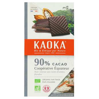 Kaoka - Tablette dégustation bio au chocolat noir 90% Equateur